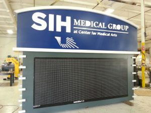 Internally Lit Aluminum Cabinet, Painted, Electronic Message Board
