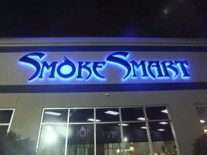Smoke Smart - Channel Letters, Halo/Reverse Lit, Standoff Mounted