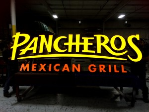 Pancheros Mexican Grill - Channel Letters, Face Lit, Raceway Mounted