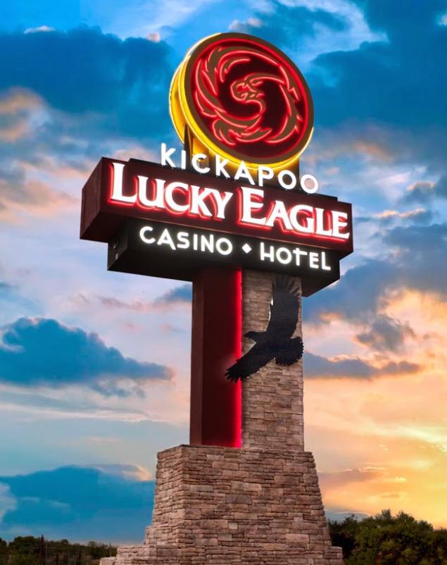 Ufb Fabrication Kickapoo Lucky Eagle Casino Custom Fabricated Illuminated Cabinet