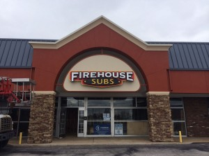 Firehouse Subs - Custom Shaped Cabinet with Channel Letters, Face Lit, Raceway Mounted